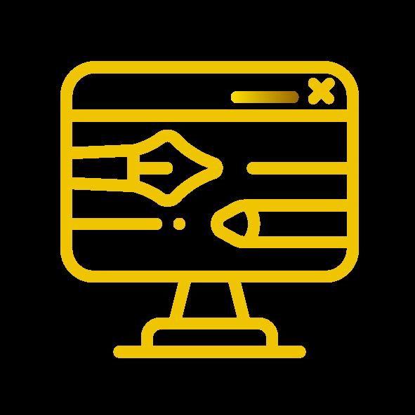 Grafikdesign Portfolio Icon der Agentur Glücksgriff Website.
