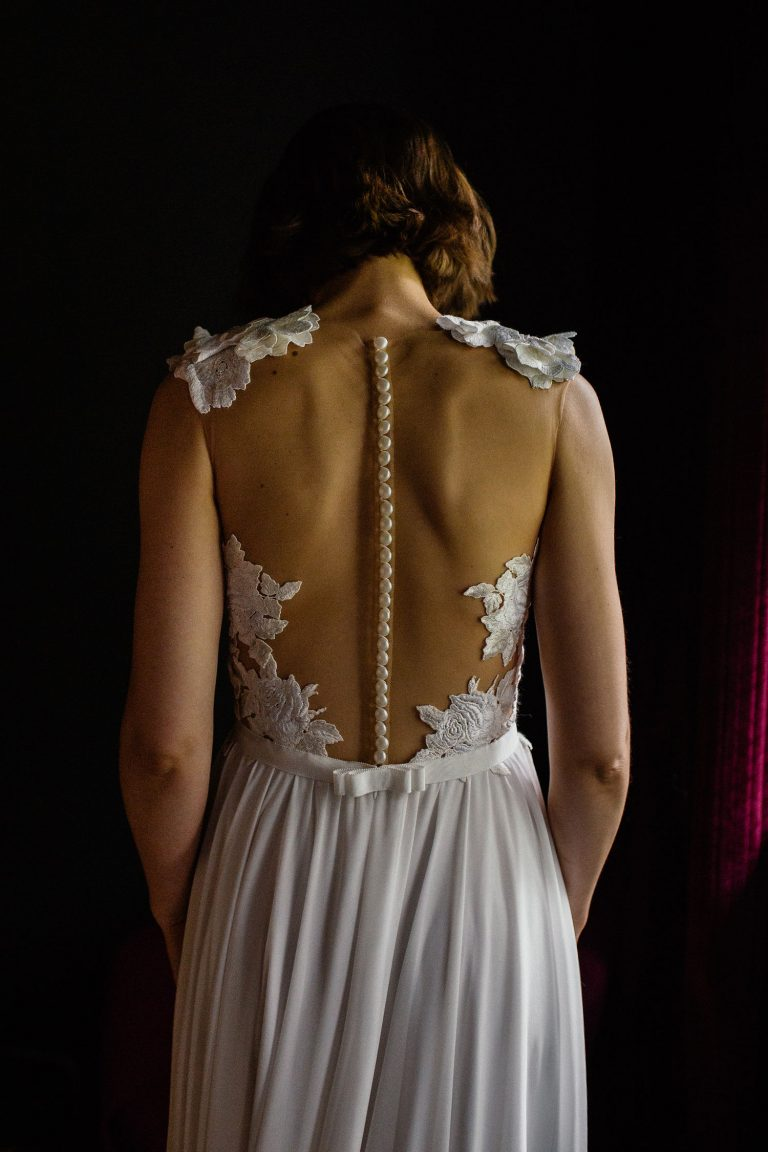 Brautkleid Rückansicht von Laura